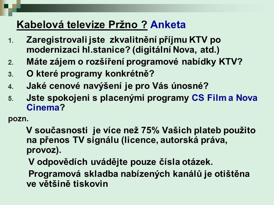 Kabelová televize Pržno . Anketa 1.