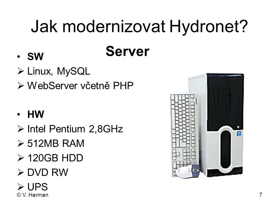 © V.Herman8 Jak modernizovat Hydronet.