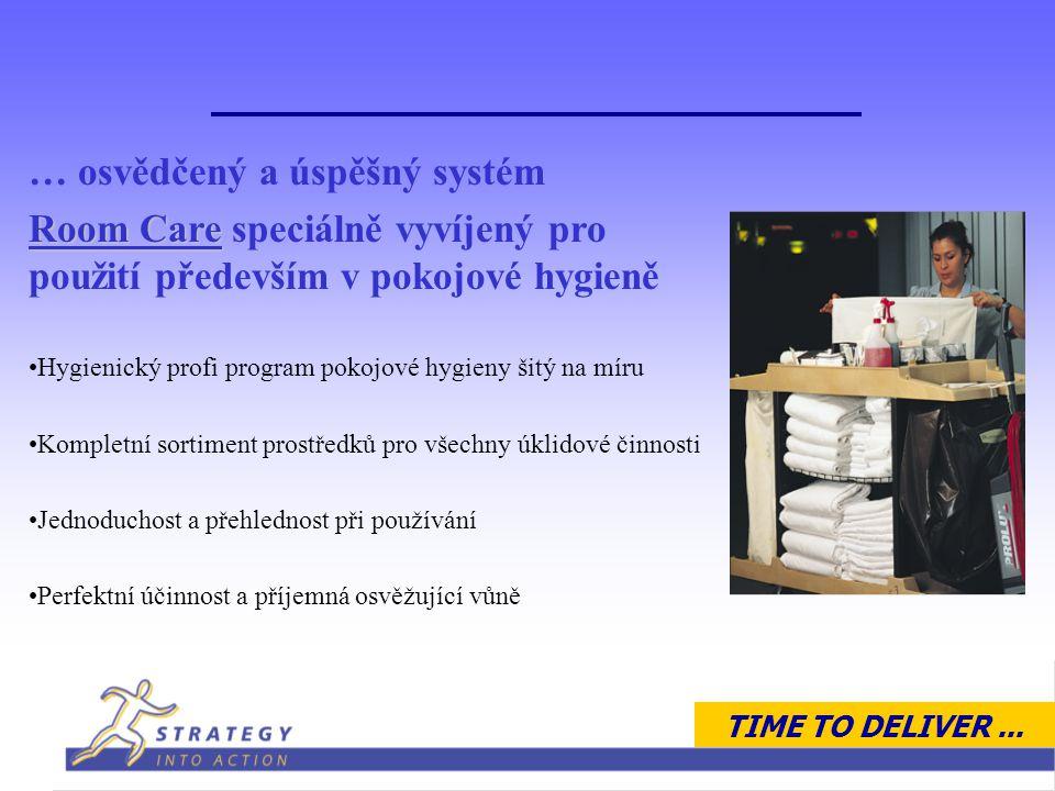 TIME TO DELIVER... Aplikace Pokojová hygiena