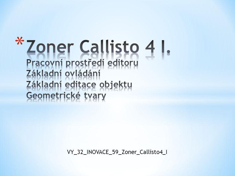 Autor : Trýzna Stanislav Školní rok : 2011/2012 Určeno pro : šestý ročník Předmět: informatika Téma : základní orientace v ovládání Zoner Callisto 4.