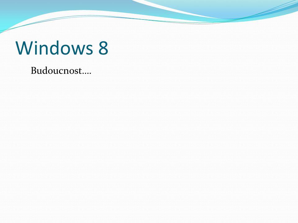 Windows 8 Budoucnost….