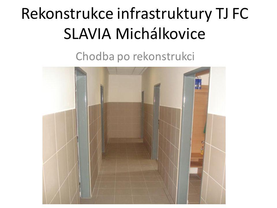 Rekonstrukce infrastruktury TJ FC SLAVIA Michálkovice Chodba po rekonstrukci