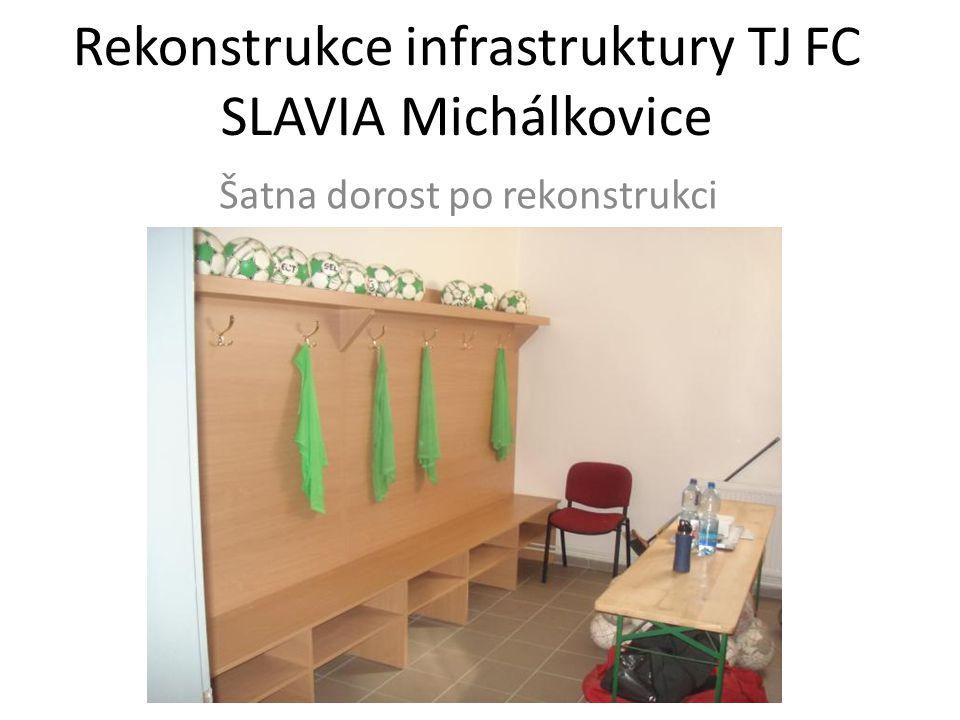 Rekonstrukce infrastruktury TJ FC SLAVIA Michálkovice Šatna dorost po rekonstrukci