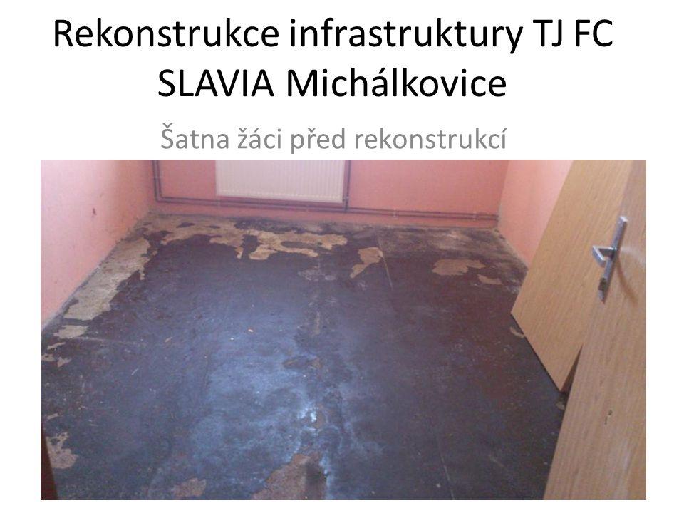 Rekonstrukce infrastruktury TJ FC SLAVIA Michálkovice Šatna žáci před rekonstrukcí