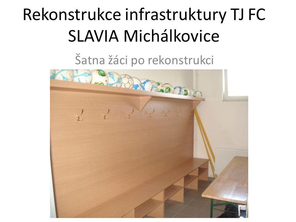 Rekonstrukce infrastruktury TJ FC SLAVIA Michálkovice Šatna žáci po rekonstrukci