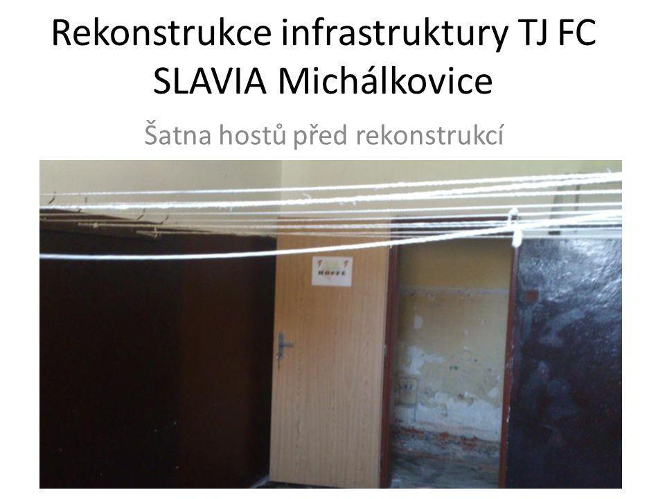 Rekonstrukce infrastruktury TJ FC SLAVIA Michálkovice Šatna hostů před rekonstrukcí
