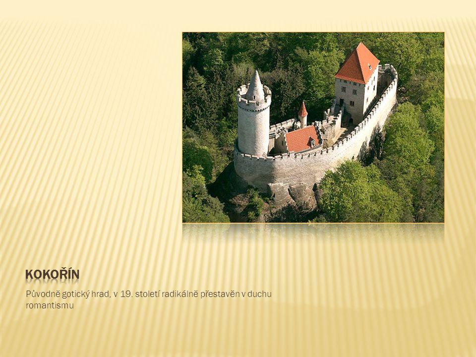 Původně gotický hrad, v 19. století radikálně přestavěn v duchu romantismu