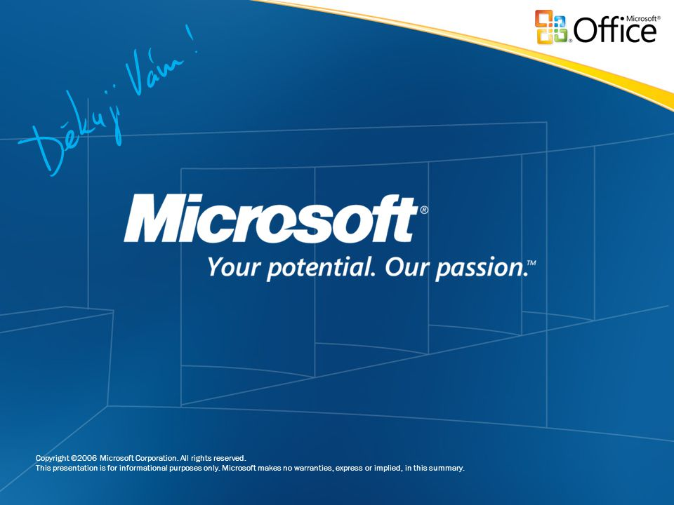 Copyright ©2006 Microsoft Corporation. All rights reserved. This presentation is for informational purposes only. Microsoft makes no warranties, expre