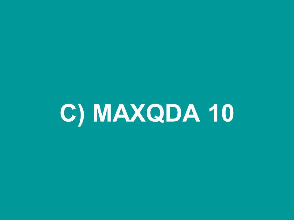 C) MAXQDA 10