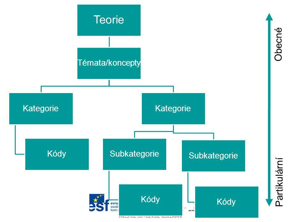 1.Případový model (One-Case Model) 2.Jednokódový model (One-Code Model) 3.Model teorie kódů (Code Theory Model) 4.Model společného výskytu kódů (Code Co-Occurrence Model) 5.Model kódů, subkódů a segmentů (Code- Subcode-Segments Model)