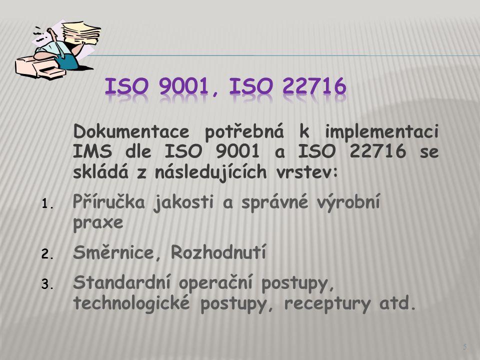  Splnění legislativních požadavků Vyhl.26/2001 MZd o hygienických požadavcích na kosmetické prostředky  Zvýšení konkurenceschopnosti a rozšíření možností pro práci ve mzdě, kooperace  Přesné vymezení odpovědností a pravomocí  Definování a popsání všech procesů ve firmě, sledování jejich efektivity a výrazné snížení možných kontaminací a neshod při výrobě, adjustaci a přepravě  Účelné nastavení kontrolních mechanismů 4
