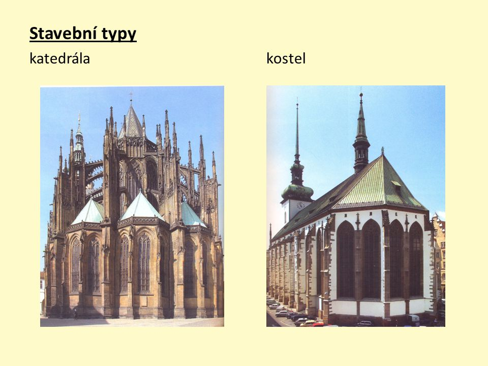 Stavební typy katedrála kostel