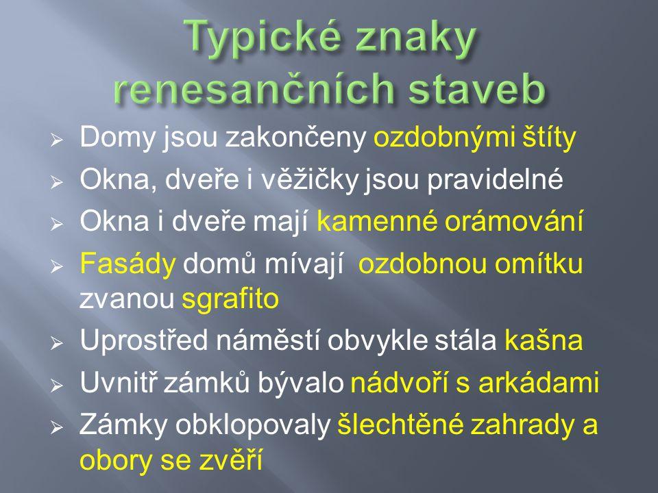 Renesanční zámek v Litomyšli s ozdobou omítky zvanou sgrafito.