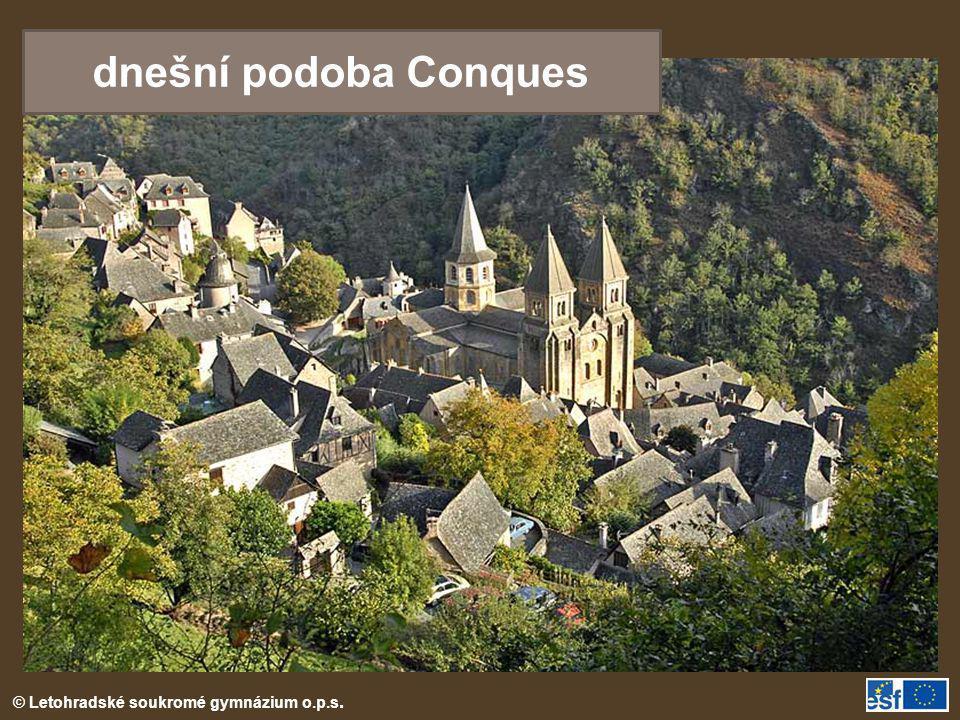 © Letohradské soukromé gymnázium o.p.s. dnešní podoba Conques