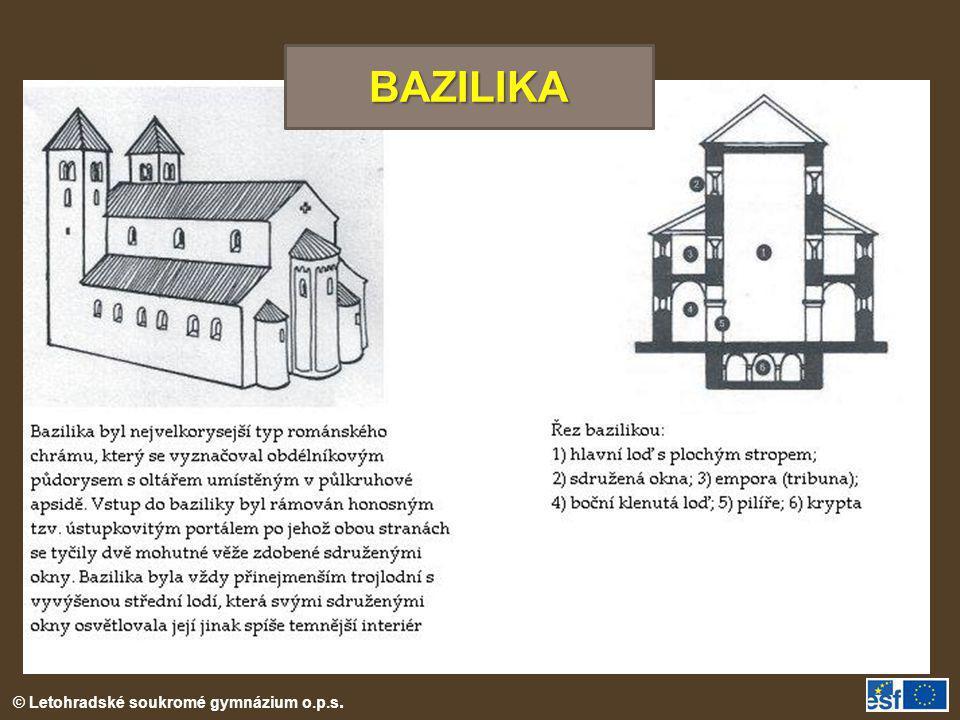 © Letohradské soukromé gymnázium o.p.s. BAZILIKA