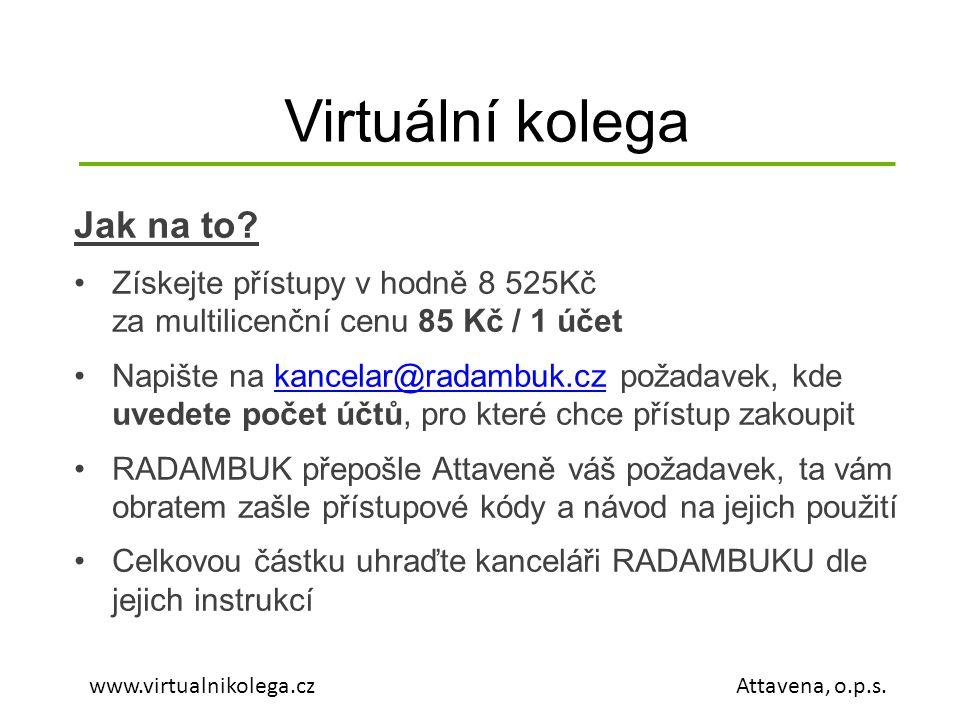 Virtuální kolega Jak na to.