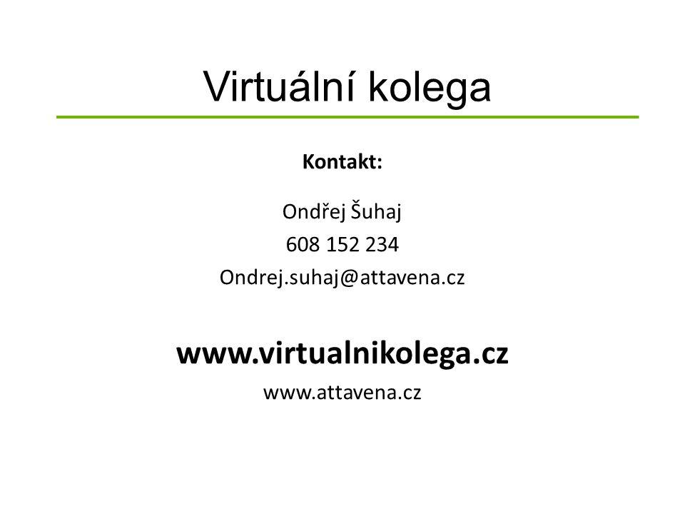 Virtuální kolega Kontakt: Ondřej Šuhaj 608 152 234 Ondrej.suhaj@attavena.cz www.virtualnikolega.cz www.attavena.cz