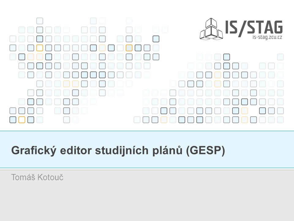 Grafický editor studijních plánů (GESP) Tomáš Kotouč