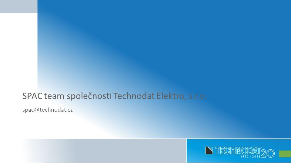 SPAC team společnosti Technodat Elektro, s.r.o. spac@technodat.cz