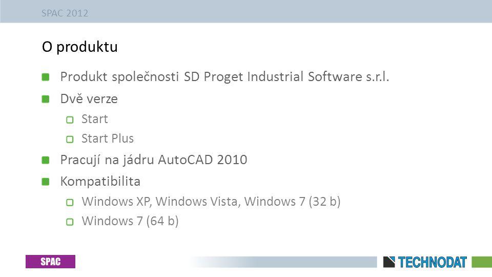 Produkt společnosti SD Proget Industrial Software s.r.l. Dvě verze Start Start Plus Pracují na jádru AutoCAD 2010 Kompatibilita Windows XP, Windows Vi