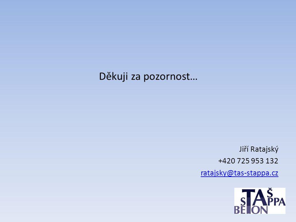 Děkuji za pozornost… Jiří Ratajský +420 725 953 132 ratajsky@tas-stappa.cz