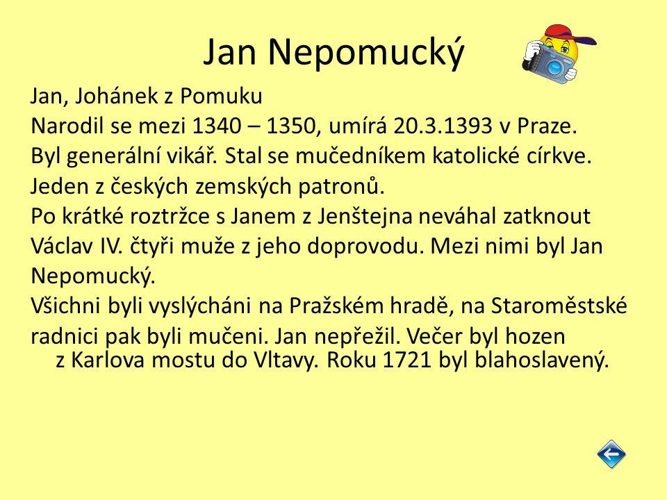 Jan z Jenštejna Český šlechtic, duchovní, politik a umělec.