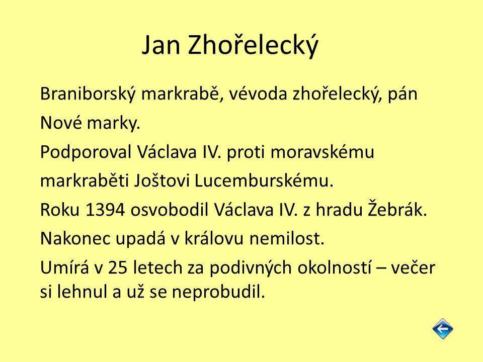 Jan Zhořelecký Braniborský markrabě, vévoda zhořelecký, pán Nové marky.