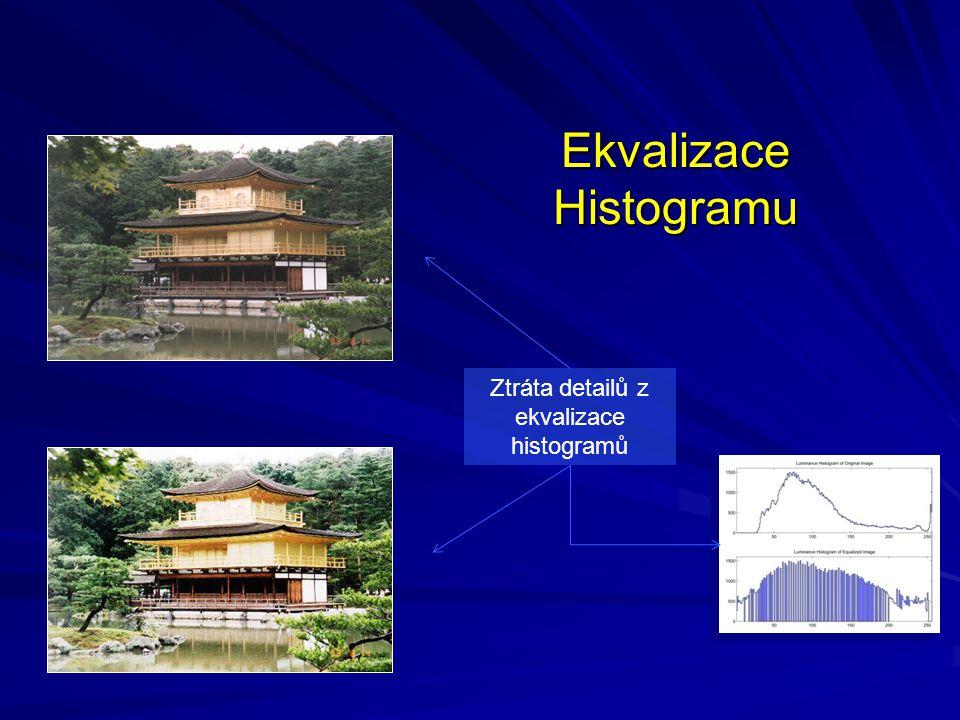 Ekvalizace Histogramu Ztráta detailů z ekvalizace histogramů