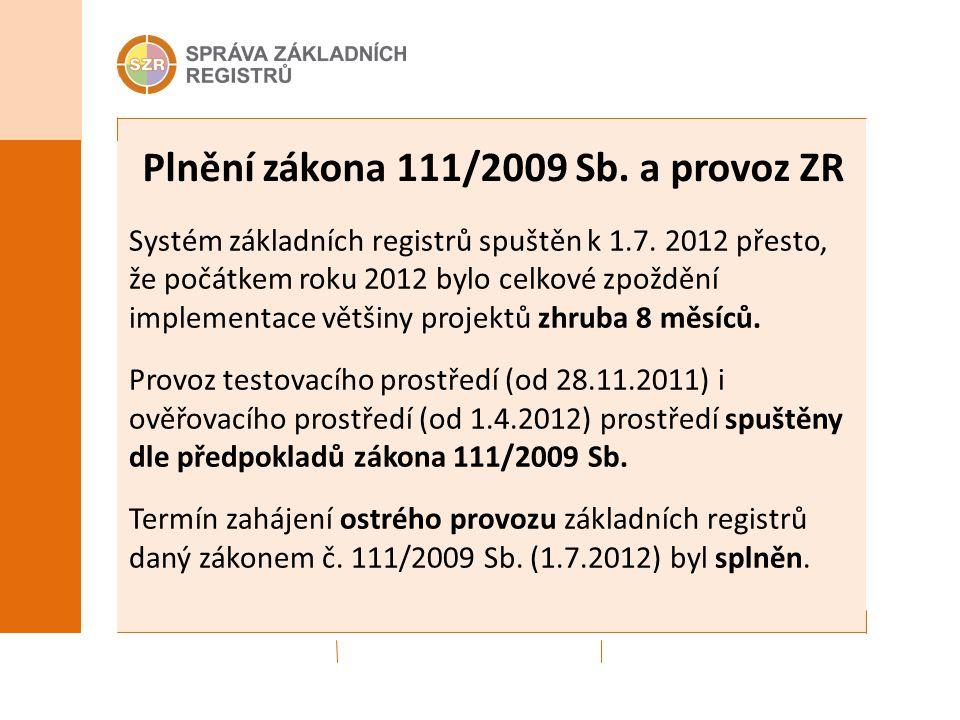 Systém základních registrů spuštěn k 1.7.