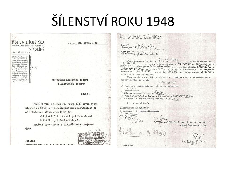 ŠÍLENSTVÍ ROKU 1948