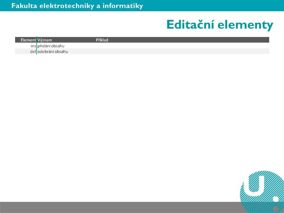 Editační elementy