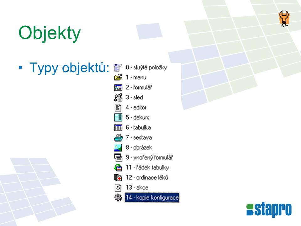 Objekty •Typy objektů: