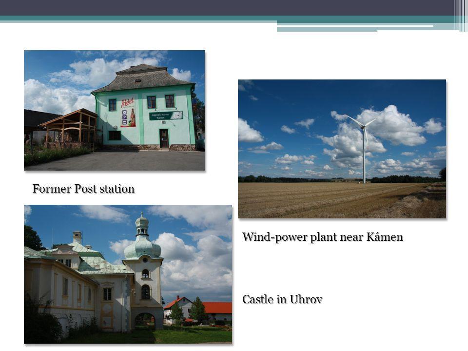 Former Post station Wind-power plant near Kámen Castle in Uhrov