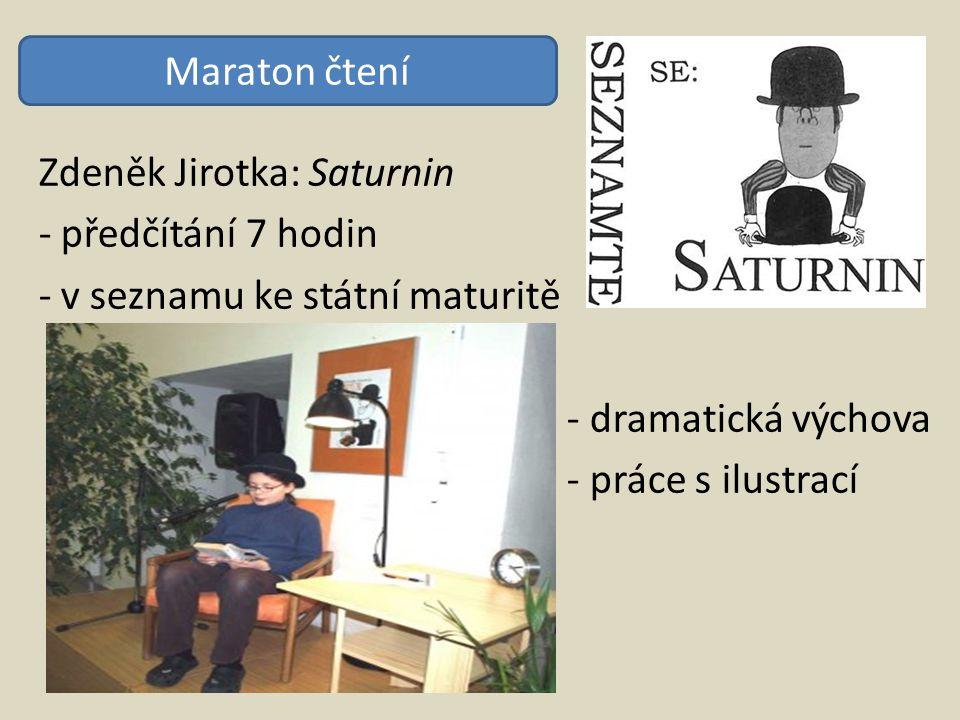 Zdeněk Jirotka: Saturnin - předčítání 7 hodin - v seznamu ke státní maturitě - dramatická výchova - práce s ilustrací Maraton čtení