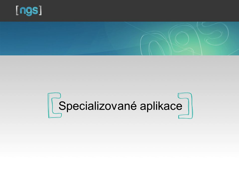 Specializované aplikace