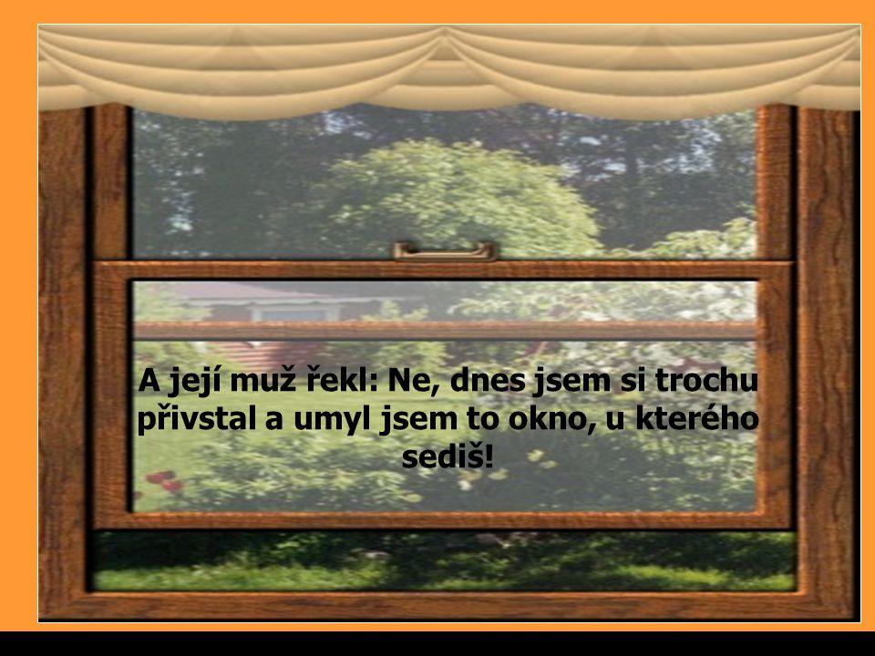 Sergimage A její muž řekl: Ne, dnes jsem si trochu přivstal a umyl jsem to okno, u kterého sediš!.