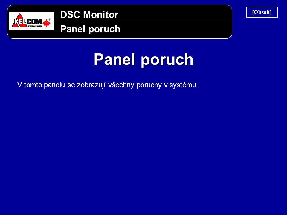 DSC Monitor Panel poruch V tomto panelu se zobrazují všechny poruchy v systému. [Obsah]