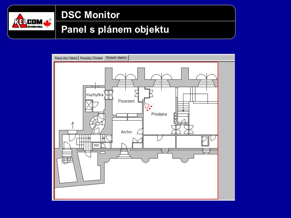 DSC Monitor Panel s plánem objektu