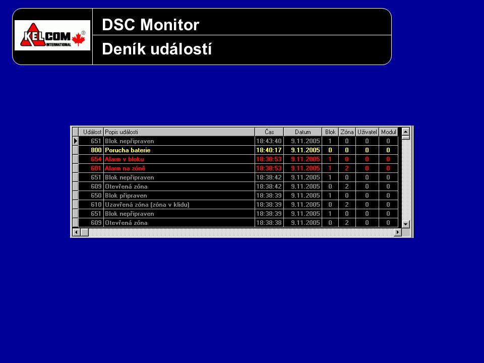 DSC Monitor Deník událostí