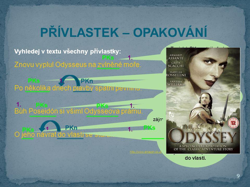 Znovu vyplul Odysseus na zvlněné moře. Po několika dnech plavby spatřil pevninu. Bůh Poseidón si všiml Odysseova prámu. O jeho návrat do vlasti se sta