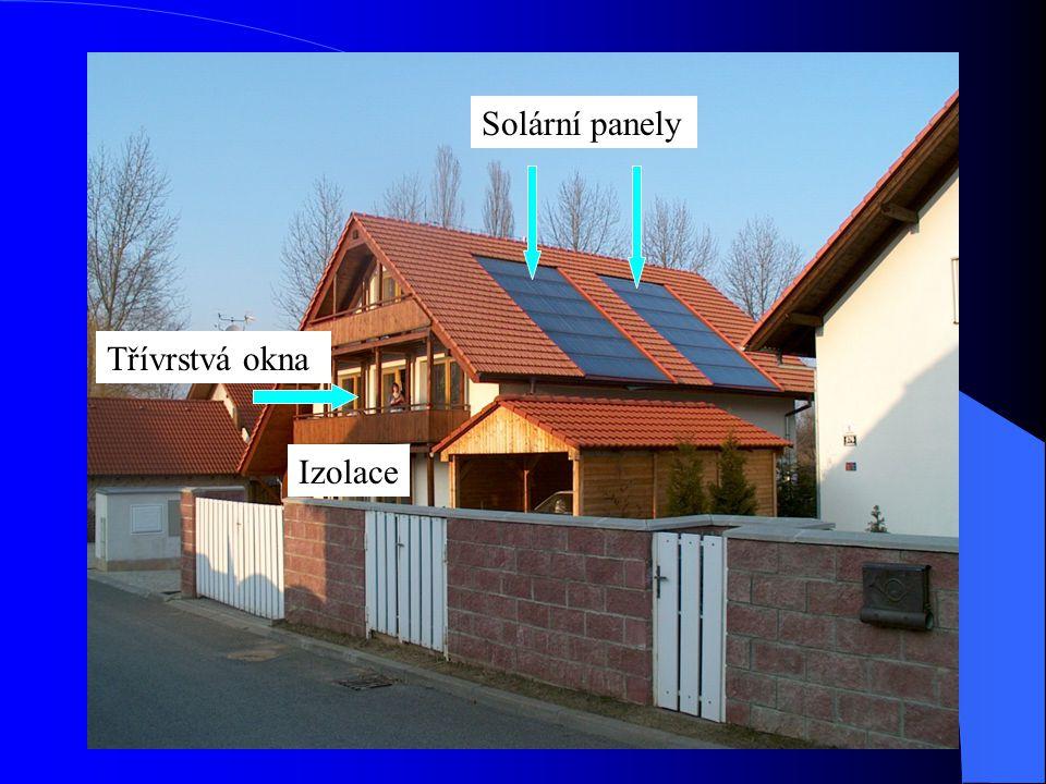 Solární panely Třívrstvá okna Izolace