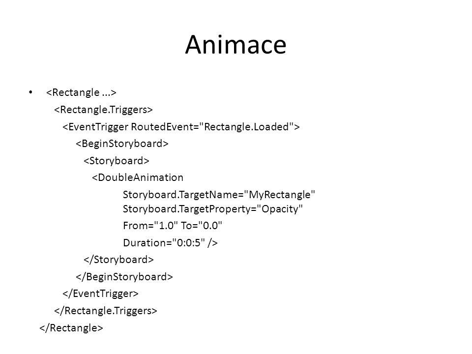 Animace • <DoubleAnimation Storyboard.TargetName=