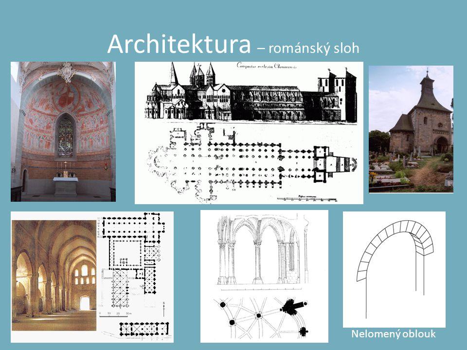 Architektura – románský sloh Nelomený oblouk