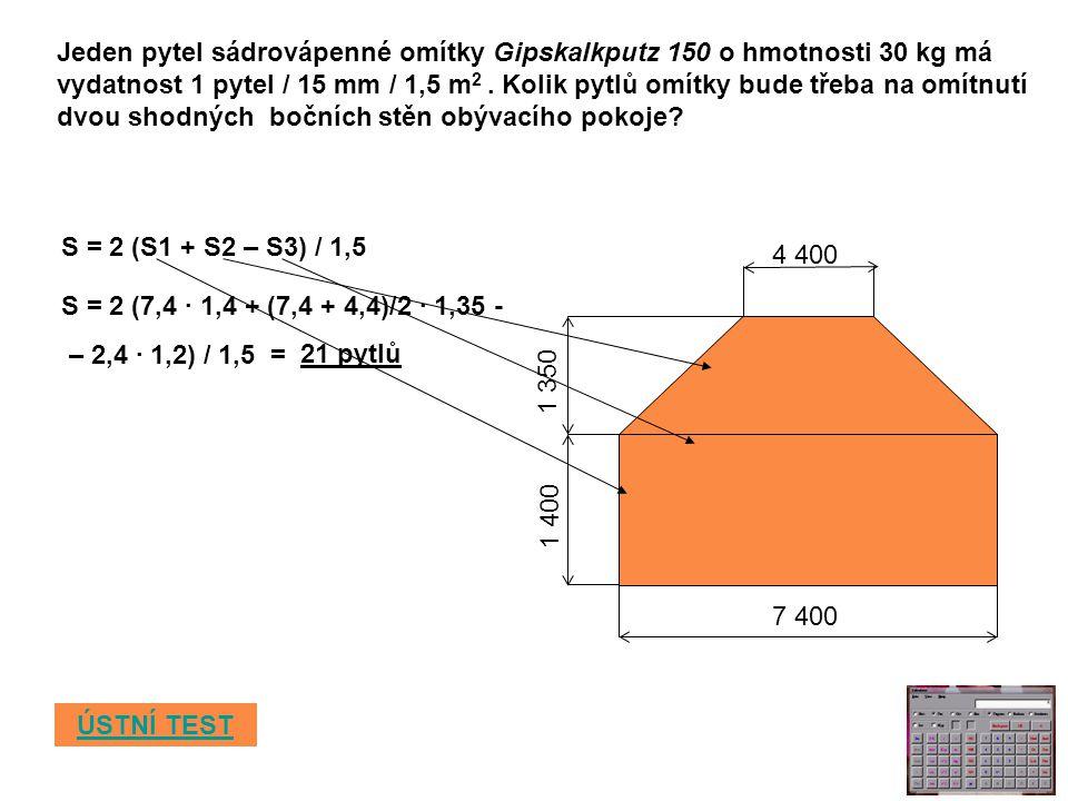 Jeden pytel sádrovápenné omítky Gipskalkputz 150 o hmotnosti 30 kg má vydatnost 1 pytel / 15 mm / 1,5 m 2.