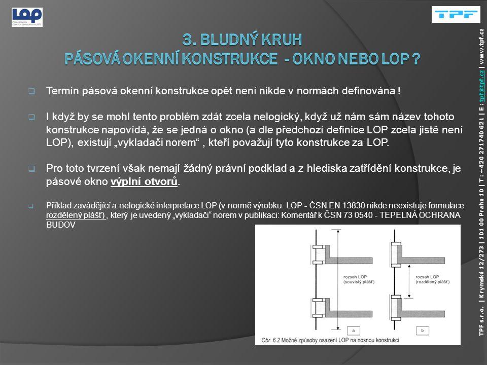  ČSN 73 0540-2 ve svých požadavcích nijak nezohledňuje výplňové konstrukce a LOP s bezpečnostními požadavky (zejména konstrukce s požární odolností a klapky OTK, neprůstřelné konstrukce),  Při splnění bezpečnostních požadavků nemohou většinou tyto konstrukce zároveň splnit tepelně technické požadavky (součinitel prostupu tepla rámu a povrchovou teplotu - teplotní faktor vnitřního povrchu.