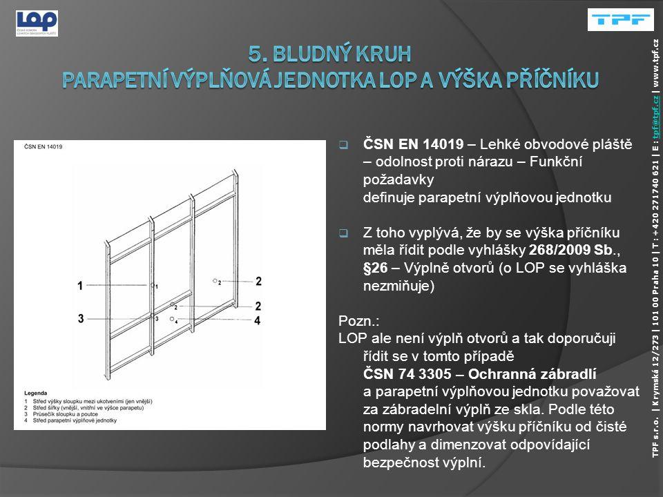  Požadavek podle vyhlášky 268/2009 Sb., ČÁST TŘETÍ - POŽADAVKY NA BEZPEČNOST STAVEB, §8 - Základní požadavky, §9 - Mechanická odolnost a stabilita 1.