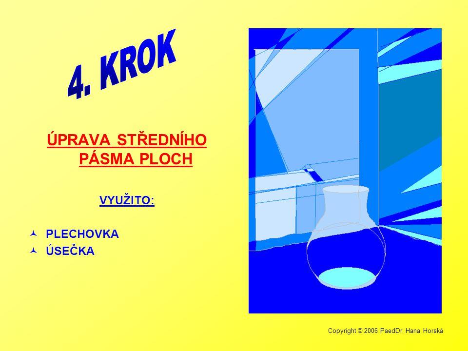 Copyright © 2006 PaedDr. Hana Horská ÚPRAVA STŘEDNÍHO PÁSMA PLOCH VYUŽITO:  PLECHOVKA  ÚSEČKA