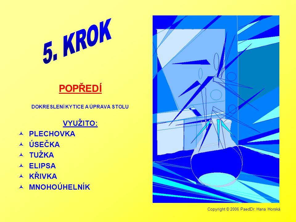 Copyright © 2006 PaedDr. Hana Horská DOTVOŘENÍ KYTICE VYUŽITO:  PLECHOVKA