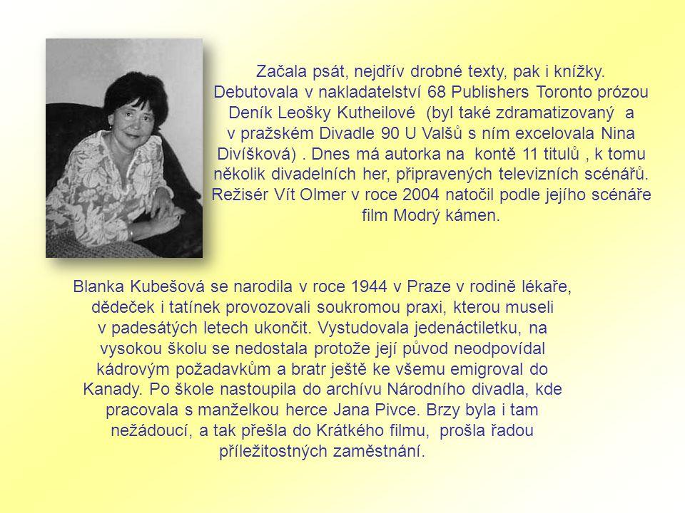 Začala psát, nejdřív drobné texty, pak i knížky.