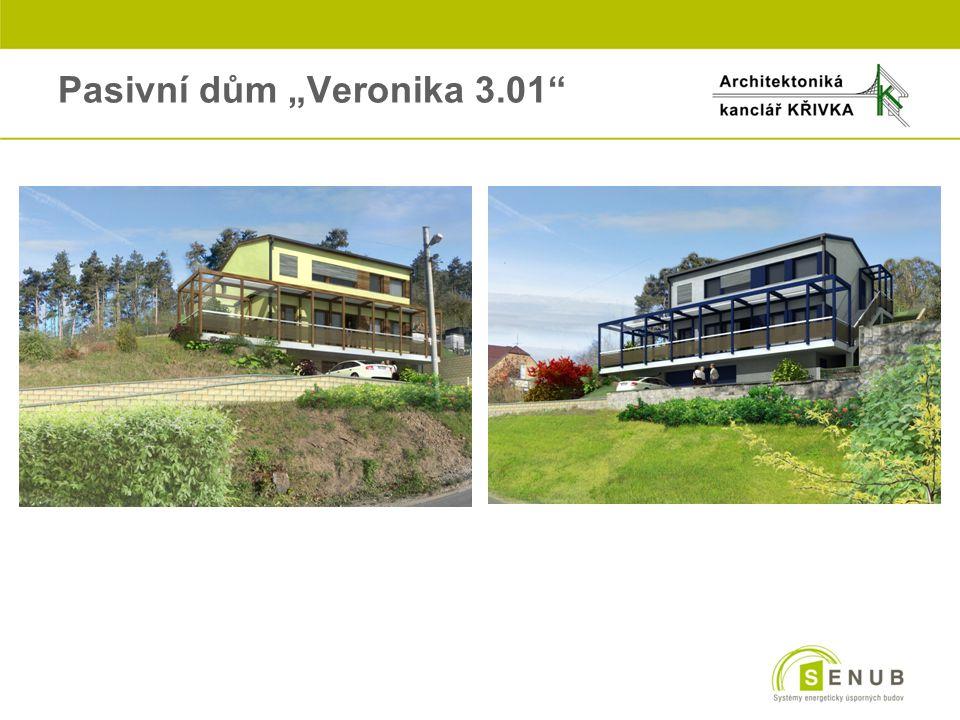 """3. Pasivní dům """"Veronika 3.01 o1. PP1. NP2. NP"""